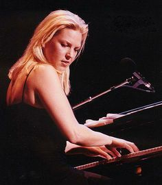 Diana Krall: great jazz pianist/vocalist, and married to Elvis Costello. Sound Of Music, Music Love, Music Is Life, My Music, Live Music, Jazz Artists, Jazz Musicians, Music Artists, Blues Artists