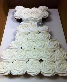 I LOVE THIS! It is cute for a bridal shower. Or rehearsal. I'm not sure if this would be considered tacky for a wedding, but it could be good! You could have one like this at a reception, a wedding dress, made of white cake and frosting, and then one in the shape of a tux - black/chocolate!