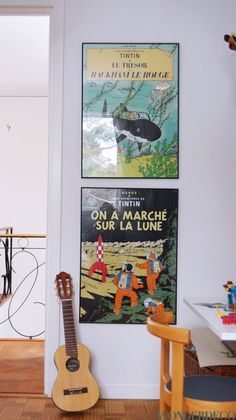 Tintin posters boys room