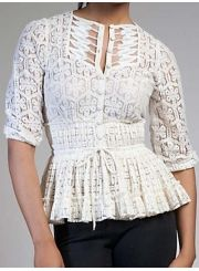 White chunky lace #blouse. Modern cool, #vintage style.