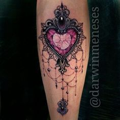 Image result for jewelled heart tattoo