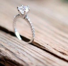 The perfect engagement ring, but maybe princess cut, cushion, emerald, or rectangle?!