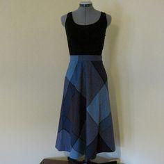 Vintage Preppy Tweed Plaid Skirt XS S by liketotallyvintage, $28.00