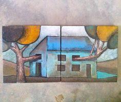 Em processo... pintando, produzindo. #inprogress  #pintura #tela #minhasartes  #acriliconcanvas #colors #casa #home #newsimbolism