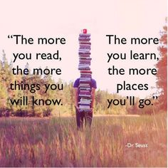The more you read,...