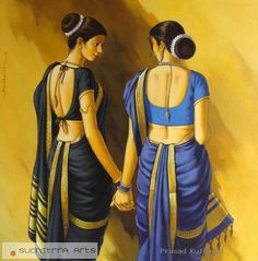 The Marathi Saree Indian Artwork, Indian Art Paintings, Female Portrait, Female Art, Woman Portrait, Indian Drawing, Rajasthani Painting, Indian Women Painting, Composition Painting