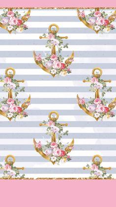 Anchor Wallpaper, Bow Wallpaper, Nautical Wallpaper, Gothic Wallpaper, Rose Gold Wallpaper, Cute Wallpaper For Phone, Summer Wallpaper, Trendy Wallpaper, Pattern Wallpaper