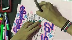 como marcar tus cuadernos con letra timoteo - YouTube