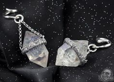 97bfe7b07 Silver and Quartz Crystal Ear Weights by Diablo Organics Witch Style, Gypsy  Witch, Body