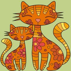 Cats coloring of adults coloring book.