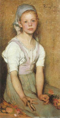 "Franz Rumpler (Austrian, 1848 -1922), ""The young peasant girl"""