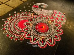 #paisley#kolam#red