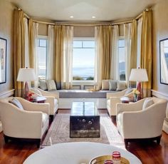 bay window curtains | Curtain Ideas for Bay Windows - Doubling-Up | Curtain Wizard Blog