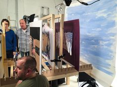 Behind the scenes: Helen Musselwhite film shoot for Mc Donald's — Handsome Frank Illustration Agency