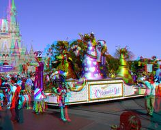 """Move It! Celebrate It! Street Party! - Google """"anaglyph glasses"""" to buy 3D glasses to view in 3D!"""