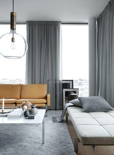 Snaps of a luxurious Stockholm apartment - COCO LAPINE DESIGNCOCO LAPINE DESIGN. Great design inspiration for mixing textures and fabrics in a family home. If you like this, we can help you create it for your space. Living Room Interior, Living Room Decor, Living Room Designs, Living Spaces, Living Rooms, House Rooms, Stockholm Apartment, York Apartment, Curtains Living