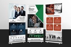 Business Roll-Up Corporate Identity Template Stationery Templates, Print Templates, Design Templates, Rollup Banner Design, Text Tool, Free Graphics, Business Flyer, Business Company, Banner Template