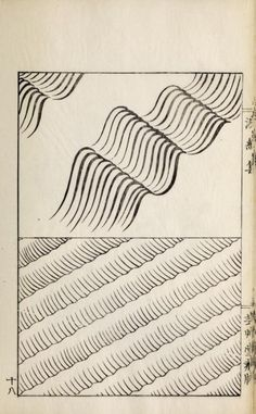 Japanese Wave and Ripple designs from Ha Bun Shu by Yusan, Mori, Published 1919 Japanese Textiles, Japanese Patterns, Japanese Prints, Japan Illustration, Japanese Books, Japanese Art, Japanese Water, Japanese Drawings, Water Patterns