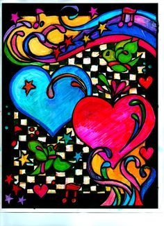 Patricia Ress (18+ division) from  Heart to Heart Stained Glass Coloring Book: http://store.doverpublications.com/0486486486.html