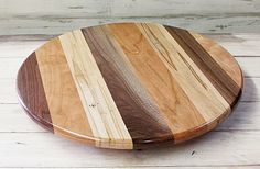 "Large Lazy Susan New Custom Made Lazy Susan 16""x16""x2"" Inlaid Hardwoods  Kitchen"