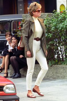 Diana looks at ease as she takes a shopping trip in Londons Knightsbridge in 1994