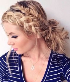 Rope Braided Head Band Hairstyles for Women