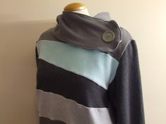 STONE  Hoodie Sweatshirt Sweater  Recycled Upcycled by MungoCrafts