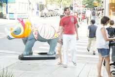 Rino Mania  Rüno: Rinoceronte de Dürer  Artista Quim Alcantara  Rua Oscar Freire X Rua Bela Cintra - Jardins, São Paulo SP  quim.com.br     For topics and discussion on  mania  go www.mybrainsick.com.