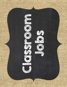 Classroom Jobs {Burlap and Chalkboard} Classroom Jobs Display, Owl Theme Classroom, 5th Grade Classroom, Classroom Organisation, Classroom Design, Preschool Classroom, Future Classroom, Classroom Ideas, Kindergarten
