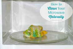 how to clean microwave naturally