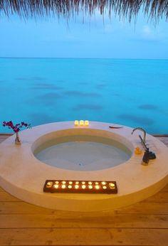 Balneario en las maldivas