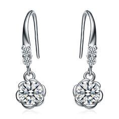 Wholesale 100% Pure 925 Sterling Silver drop earrings women fine jewelry new arrival YA1881-in Drop Earrings from Jewelry on Aliexpress.com | Alibaba Group