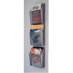 wall mounted triple magazine holder