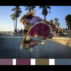 Color palette of the day. Not losing focus Friday! Photo credit: J Goodman for National Geographic #photoofday #picoftheday #beautyiseverywhere #beautiful #color #colorful #colorpalette #skate #cali injinnyous.com