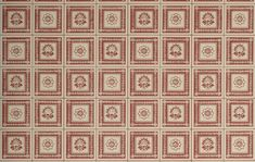 Coffered SquaresHistoric colorway, two widths