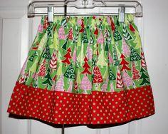 Size 4/5 Michael miller tree skirt. $15.00, via Etsy.