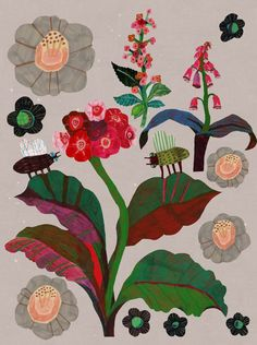 I love Kew Gardens a lot. It's a magical Place. What better place to go when our home was full of workmen fixing the electrics and tiling and making lots of noise at home? Art And Illustration, Floral Illustrations, Art Floral, Guache, Kew Gardens, Gravure, Botanical Art, Clipart, Art Inspo