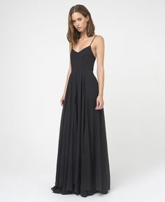 SLAVE SOLID MAXI DRESS - JET BLACK - New In - Womens - £100