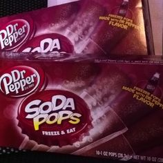 Dr. Pepper Popsicles--taste like coke icees...less than 20 calories for each one with 4 grams of sugar!