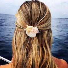 Shell Jewelry, Hair Jewelry, Jewellery, Ocean Hair, Beach Wedding Hair, Glitter Hair, Diy Schmuck, Diy Hair Accessories, Mermaid Hair