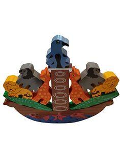 EcofriendlyBee Wooden Noah's Ark Balancing Stacking Animals Toy Game for Children EcofriendlyBee Pet Toys, Kids Toys, Wooden Jigsaw, Stacking Toys, Non Toxic Paint, Activity Toys, Animal 2, Kids Branding, Creative Activities