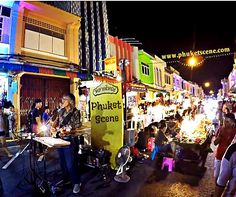"""Phuket Scene ( """"Phuket town night market is the place to shop, be entertained and have a fun time in the islands…"""" Phuket Shopping, Bars And Clubs, Fun Time, Nightlife, Where To Go, Good Times, Islands, Scene, Entertaining"""