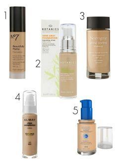 The best drugstore make up for oily skin!