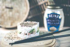 Mini sushi cake con mayonesa Heinz Realmente Deliciosa - Petit-On