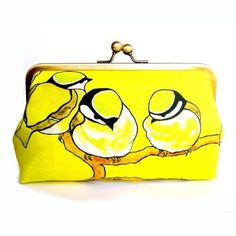 yellow birds on branches | Yellow Birds on a Branch Clutch