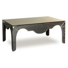 Serpentine Coffee Table in aged mirror by Julian Chichester.