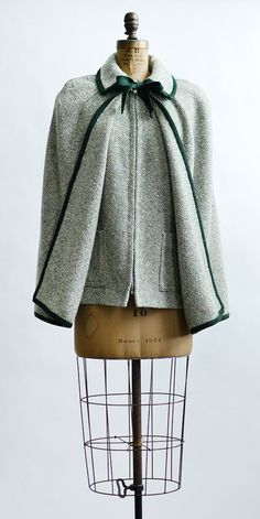 vintage 1960s forest green cape and vest | Nestled Evergreen Cape from Adored Vintage #1960s #60s