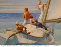 edward hopper - Google Search  I love this image because of how smooth and yet how defined it is. We can clearly see the ground and how the artist wanted to portray his focal points