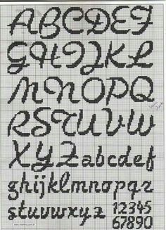cross stitch font More Más