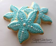 Starfish Cookies Beach-Wedding Party Favors-2 by TheSugarSanctuary